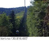Funicular railway on Szyndzielnia, Bielsko-Biala, Poland. Стоковое фото, фотограф Henryk T. Kaiser / age Fotostock / Фотобанк Лори