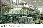Купить «Helicopter aviation plant industry making», видеоролик № 30817643, снято 24 мая 2019 г. (c) Mark Agnor / Фотобанк Лори