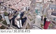 Купить «Aerial view square of the Europe at Gran Via district. Barcelona, Catalonia», видеоролик № 30818415, снято 20 марта 2019 г. (c) Яков Филимонов / Фотобанк Лори