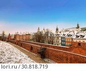 Купить «Warsaw Barbican in the capital city of Poland», фото № 30818719, снято 29 декабря 2014 г. (c) Наталья Волкова / Фотобанк Лори