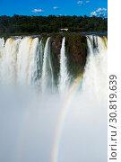 Купить «Garganta del Diablo waterfall on Iguazu River», фото № 30819639, снято 16 февраля 2017 г. (c) Яков Филимонов / Фотобанк Лори