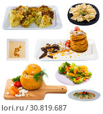 Купить «Meatless dishes isolated on white background», фото № 30819687, снято 16 июня 2019 г. (c) Яков Филимонов / Фотобанк Лори