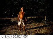Купить «Man, Forest, Santa Maria Ranch, Cuieiras River, Manaus, Amazônia, Amazonas, Brazil», фото № 30824051, снято 21 сентября 2008 г. (c) age Fotostock / Фотобанк Лори