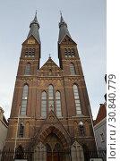 Купить «Католический собор в Амстердаме, Голландия», фото № 30840779, снято 23 декабря 2013 г. (c) Светлана Колобова / Фотобанк Лори