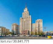 Купить «Сталинская высотка у Красных ворот», эксклюзивное фото № 30841771, снято 30 апреля 2019 г. (c) Виктор Тараканов / Фотобанк Лори