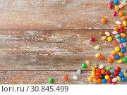 Купить «close up of multicolored jelly beans candies», фото № 30845499, снято 22 мая 2015 г. (c) Syda Productions / Фотобанк Лори