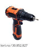Купить «Cordless drill screw gun», фото № 30852827, снято 24 мая 2019 г. (c) Мельников Дмитрий / Фотобанк Лори