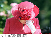 Royal Ascot, United Kingdom, HRH Queen Elizabeth the Second is not amused (2018 год). Редакционное фото, агентство Caro Photoagency / Фотобанк Лори