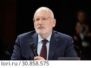 Berlin, Germany - Frans Timmermans, Vice-President of the European Union. (2019 год). Редакционное фото, агентство Caro Photoagency / Фотобанк Лори