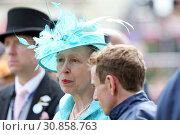 Royal Ascot, United Kingdom, Portrait of HRH Princess Anne (2018 год). Редакционное фото, агентство Caro Photoagency / Фотобанк Лори