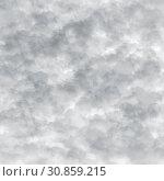 Купить «Abstract gray background with a clouds on white», иллюстрация № 30859215 (c) Володина Ольга / Фотобанк Лори