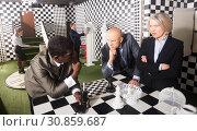 Купить «Businesspeople solving conundrums», фото № 30859687, снято 29 января 2019 г. (c) Яков Филимонов / Фотобанк Лори