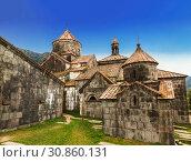 Купить «Medieval Armenian monastery Haghpat, 10 century. Armenia», фото № 30860131, снято 27 сентября 2018 г. (c) Наталья Волкова / Фотобанк Лори