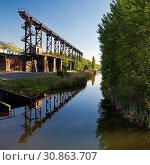 Купить «Landschaftspark Duisburg-Nord, Duisburg, Ruhrgebiet, Nordrhein-Westfalen, Deutschland, Europa», фото № 30863707, снято 2 августа 2020 г. (c) age Fotostock / Фотобанк Лори