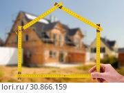 Купить «Hauskauf und Hausbau im Rohbau», фото № 30866159, снято 20 января 2020 г. (c) easy Fotostock / Фотобанк Лори