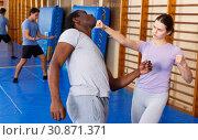 Купить «People practicing self defense techniques», фото № 30871371, снято 31 октября 2018 г. (c) Яков Филимонов / Фотобанк Лори
