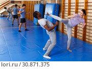Купить «People practicing self defense techniques», фото № 30871375, снято 31 октября 2018 г. (c) Яков Филимонов / Фотобанк Лори