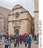 Купить «Церковь Святого Спасителя. Дубровник. Хорватия», фото № 30875651, снято 4 мая 2019 г. (c) Сергей Афанасьев / Фотобанк Лори
