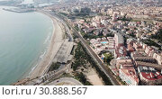 Aerial view of the spanish city of Tarragona. Spain (2019 год). Стоковое видео, видеограф Яков Филимонов / Фотобанк Лори
