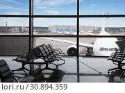 Empty lounge area of the airport terminal. Стоковое фото, фотограф Алексей Кузнецов / Фотобанк Лори