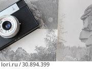 Old camera and old photos of the rocks. Стоковое фото, фотограф Бурухин Никита Юрьевич / Фотобанк Лори