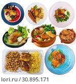 Купить «Set of poultry food isolated», фото № 30895171, снято 3 августа 2020 г. (c) Яков Филимонов / Фотобанк Лори
