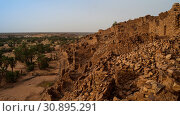 Ruins of Ouadane fortress in Sahara Mauritania (2012 год). Стоковое фото, фотограф Сергей Майоров / Фотобанк Лори
