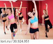 Купить «Active females dancing excited posing», фото № 30924951, снято 31 мая 2017 г. (c) Яков Филимонов / Фотобанк Лори
