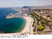 Купить «Shoreline of Barcelona is colorful landmark of Spain», фото № 30925071, снято 27 июня 2018 г. (c) Яков Филимонов / Фотобанк Лори