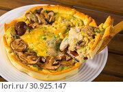 Купить «Shortcrust pastry pie with mushrooms», фото № 30925147, снято 15 июня 2019 г. (c) Яков Филимонов / Фотобанк Лори
