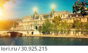 Купить «Pont du Carrousel leading to Louvre palace», фото № 30925215, снято 10 октября 2018 г. (c) Яков Филимонов / Фотобанк Лори