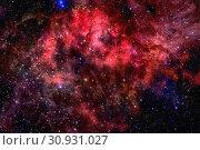 Купить «Nebula and galaxies in dark space. Elements of this image furnished by NASA.», фото № 30931027, снято 27 мая 2020 г. (c) easy Fotostock / Фотобанк Лори