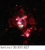 Купить «Star-forming region in the super star cluster in the Large Magellanic Cloud. Retouched colored image. Elements of this image furnished by NASA.», фото № 30931927, снято 27 мая 2020 г. (c) easy Fotostock / Фотобанк Лори