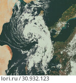 Купить «Cyclonic Storm in the Mediterranean. Elements of this image are furnished by NASA.», фото № 30932123, снято 28 января 2020 г. (c) easy Fotostock / Фотобанк Лори