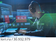 hacker with access denied messages on computers. Стоковое фото, фотограф Syda Productions / Фотобанк Лори