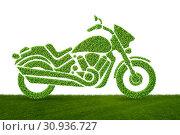 Купить «Green environmentally friendly vehicle concept - 3d rendering», фото № 30936727, снято 20 июля 2019 г. (c) Elnur / Фотобанк Лори