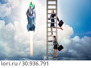 Купить «Unequal career opportunities concept for men and women», фото № 30936791, снято 29 мая 2020 г. (c) Elnur / Фотобанк Лори