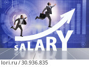Купить «Concept of increasing salary with businessman», фото № 30936835, снято 29 мая 2020 г. (c) Elnur / Фотобанк Лори