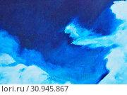 Купить «White and blue watercolor paint on canvas. Texture, background, wallpaper», фото № 30945867, снято 6 мая 2018 г. (c) easy Fotostock / Фотобанк Лори
