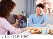 Купить «Teenager listening to reprimanding mother», фото № 30949567, снято 23 мая 2019 г. (c) Яков Филимонов / Фотобанк Лори