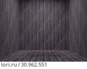 Купить «Weathered Wooden Plank Room. Empty Shack. Shanty Hotel Room», фото № 30962551, снято 27 июня 2019 г. (c) easy Fotostock / Фотобанк Лори