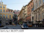 Streets of Genoa, Italy (2017 год). Редакционное фото, фотограф Яков Филимонов / Фотобанк Лори