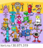 Cartoon Illustration of Funny Robots Fantasy Characters Big Set. Стоковое фото, фотограф Zoonar.com/Igor Zakowski / easy Fotostock / Фотобанк Лори