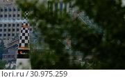 Купить «Racing airplane at the stage», видеоролик № 30975259, снято 16 июня 2019 г. (c) Игорь Жоров / Фотобанк Лори