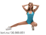 Купить «Sexy sporty woman isolated view», фото № 30989851, снято 6 июня 2019 г. (c) Гурьянов Андрей / Фотобанк Лори