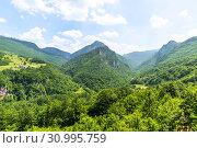 Купить «Mountains and Tara river canyon in Durmitor, Montenegro», фото № 30995759, снято 14 июня 2019 г. (c) Володина Ольга / Фотобанк Лори