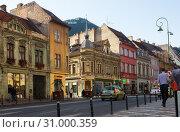 Brasov streets, Romania (2017 год). Редакционное фото, фотограф Яков Филимонов / Фотобанк Лори