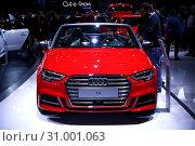 Купить «Audi S3», фото № 31001063, снято 11 марта 2019 г. (c) Art Konovalov / Фотобанк Лори