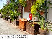 Купить «Antalya, Turkey - September 22, 2018: Street of old town Kaleici in Antalya, Turkey», фото № 31002731, снято 22 сентября 2018 г. (c) Наталья Двухимённая / Фотобанк Лори