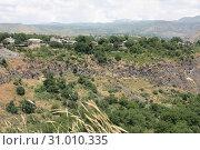 Горное ущелье в окрестностях храма Гарни, Армения (2019 год). Стоковое фото, фотограф Татьяна Пухова / Фотобанк Лори